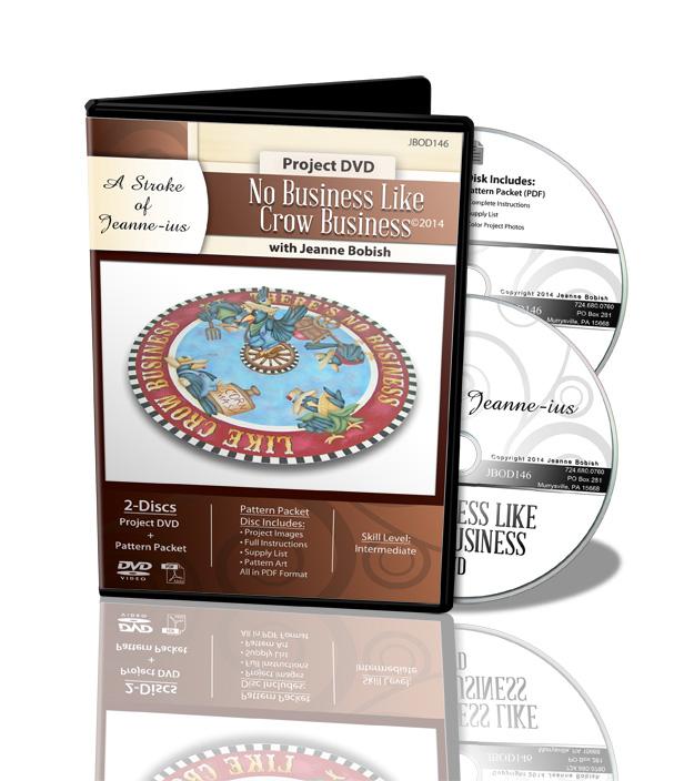 No Business Like Crow Business DVD & Pattern Packet - Jeanne Bobish