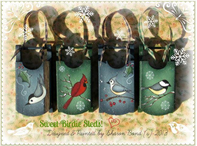 Sweet Birdie Sleds - E-Packet - Sharon Bond
