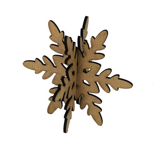 3D Wood Ornament - Snowflake