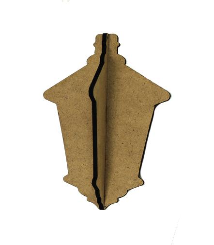 3D Wood Ornament - Lantern