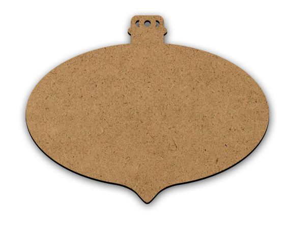 Pointed Oval Classic Ornament