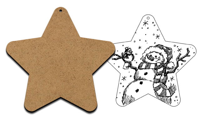 Simple Star Ornament