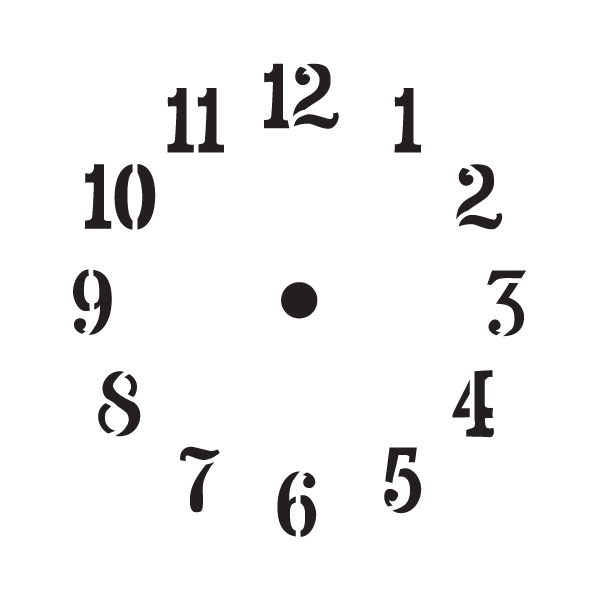 Summer Time Clock Stencil- 5""