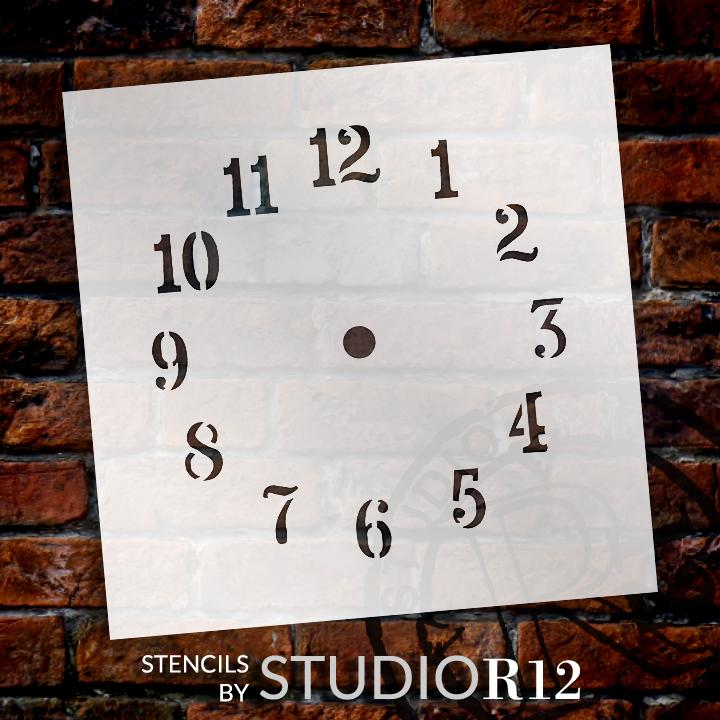 "Summer Time Clock Stencil- 5"""