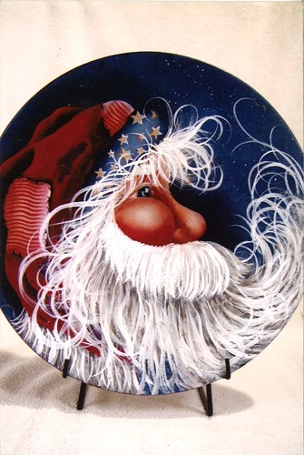 Patriotic Santa Plate - E-Packet - Donna Scully