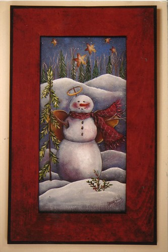 Winter Snowman Scene - E-Packet - Donna Scully
