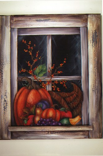 Fall Cornucopia Window - E-Packet - Donna Scully