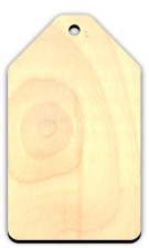 Large Wood Gift Tag