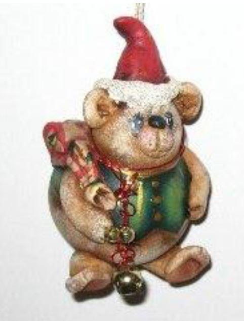 Santa Bear Ornament - E-Packet - Dottie Kuhl