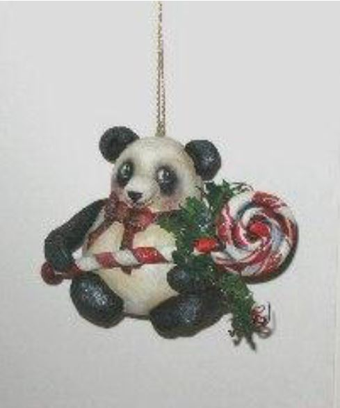 Candy Panda Ornament - E-Packet - Dottie Kuhl