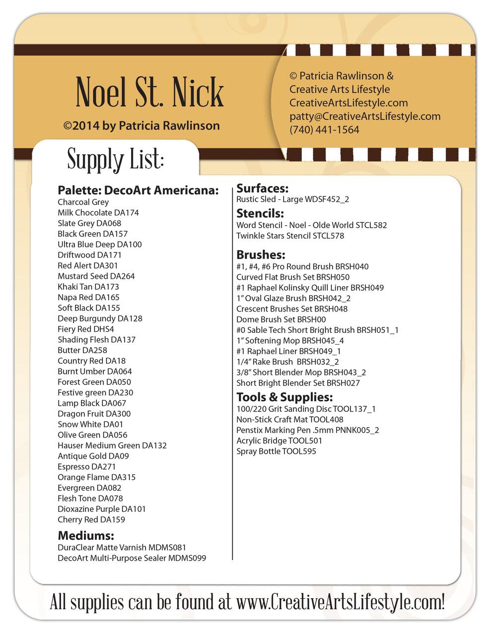 Noel Saint Nick Pattern Packet