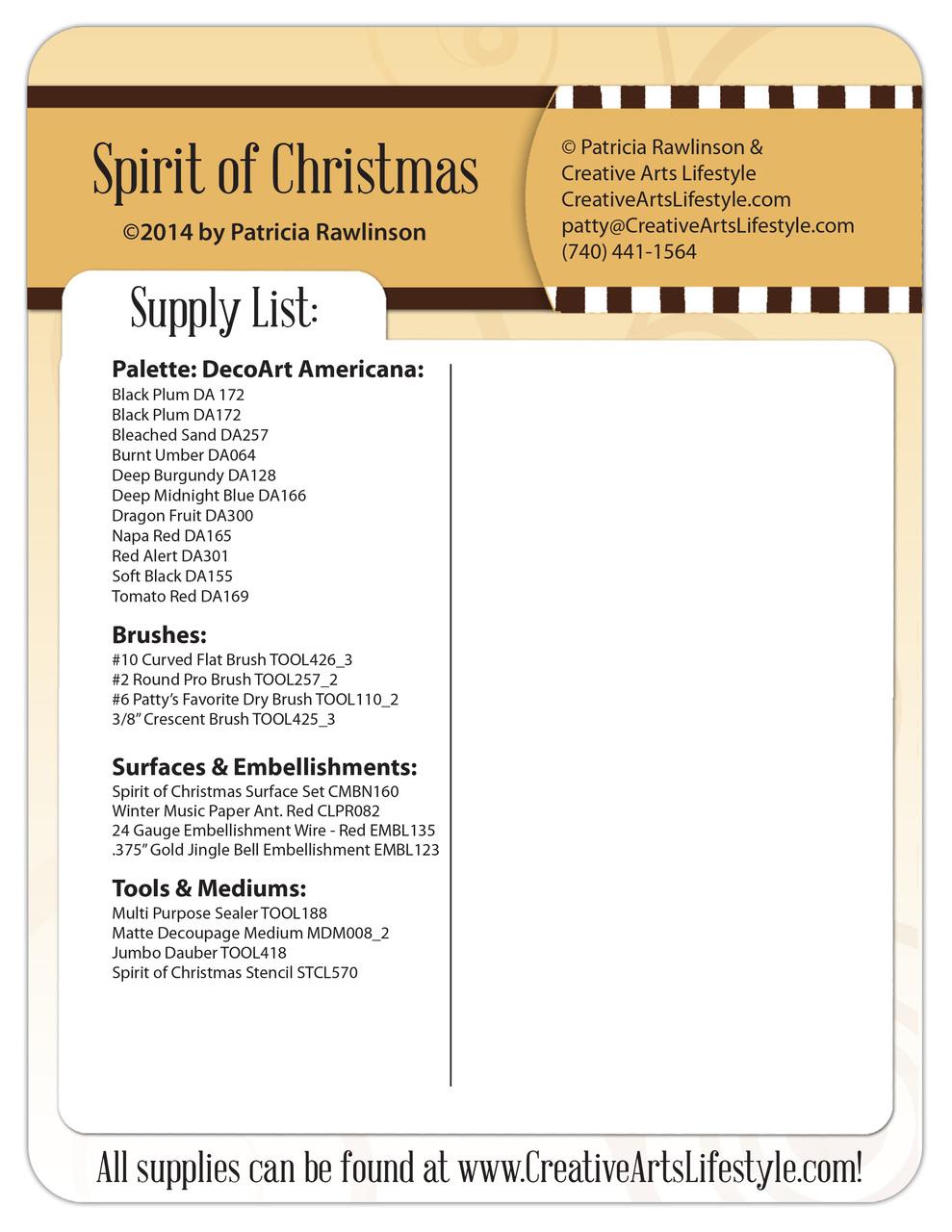 Spirit of Christmas DVD - Patricia Rawlinson