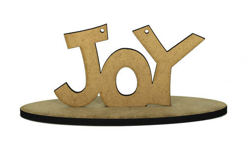 Spirit of Christmas -Joy Ornament with Base