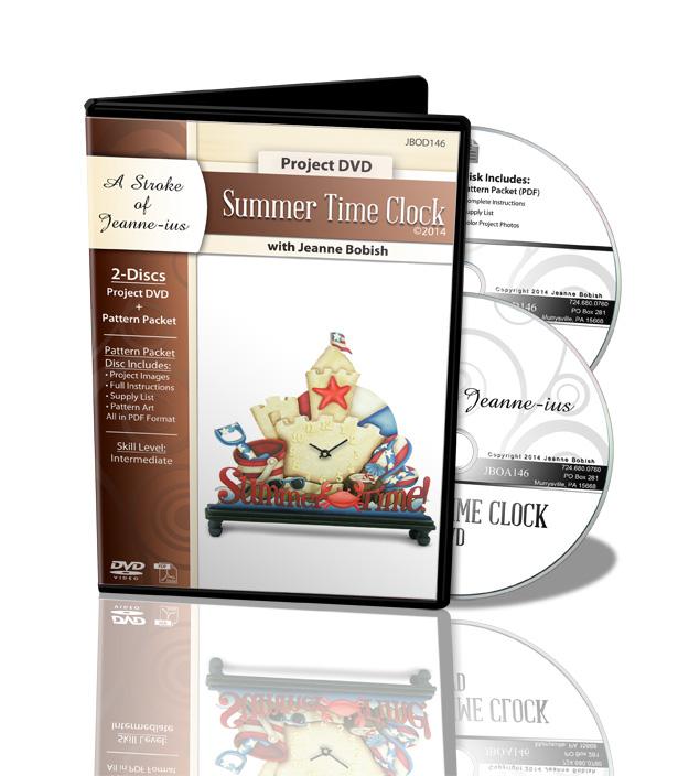 Summer Time Clock DVD & Pattern Packet - Jeanne Bobish