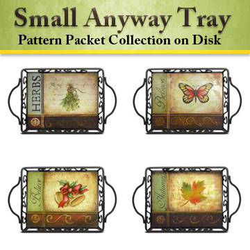 Small Anyway Tray Pattern Collection on Disc