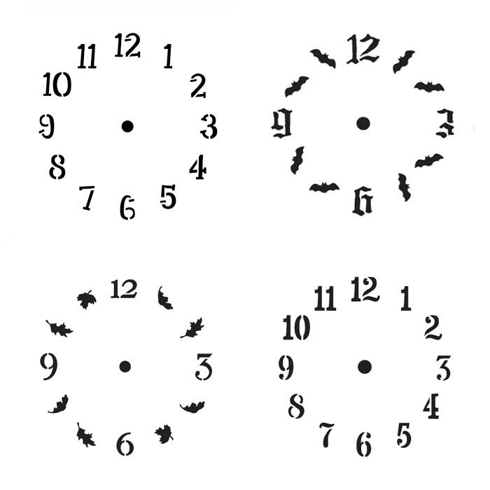 Standing Clock Stencil Set