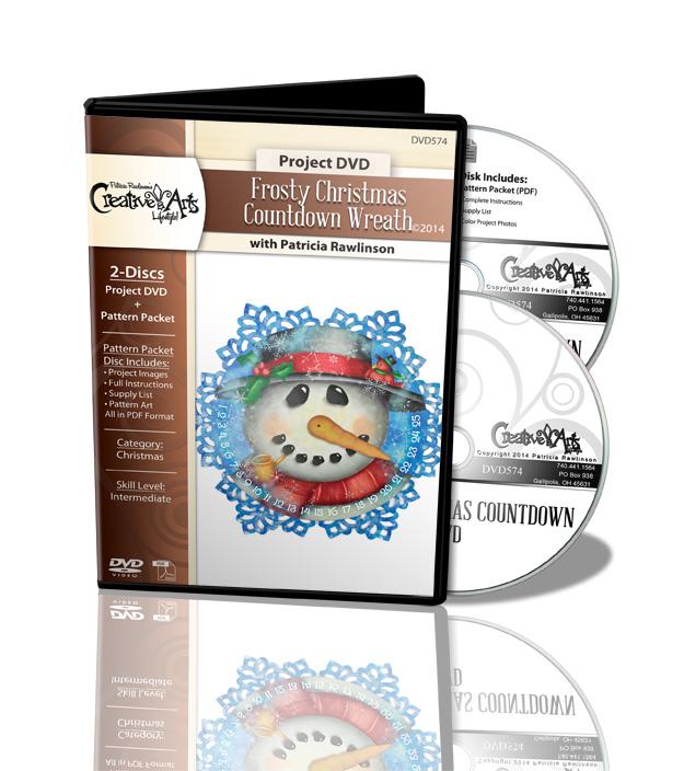 Frosty Christmas Countdown Wreath DVD - Patricia Rawlinson