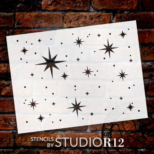 "Twinkle Stars Stencil - 8"" x 6"" - STCL578 - by StudioR12"