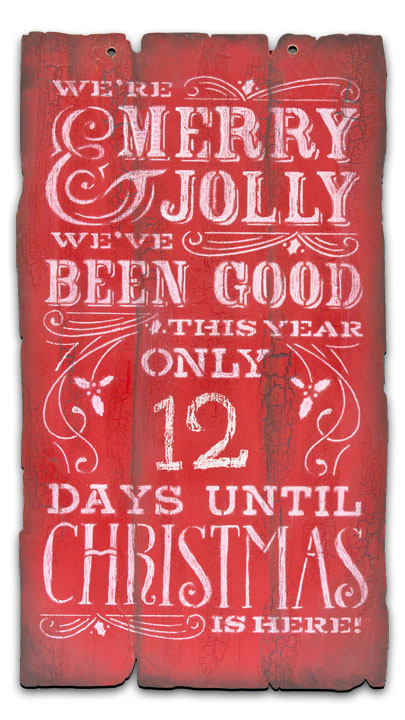 Merry Christmas Chalk Countdown Pattern Packet - Patricia Rawlinson