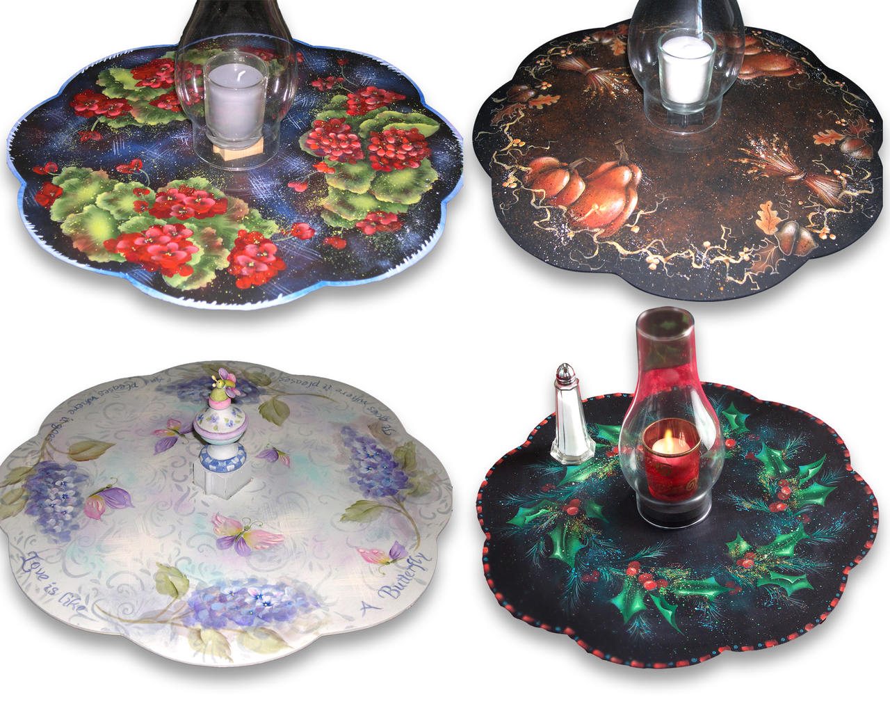 Four Season Lazy Susan Patterns Collection