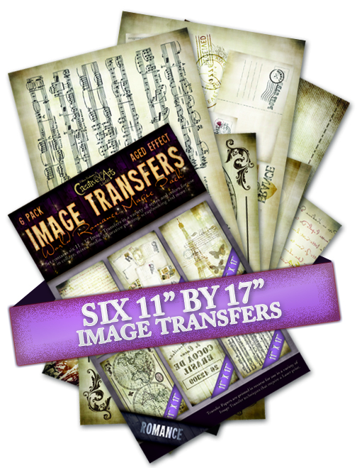 "Image Transfer Magic Pack - World Romance Magic Pack - Aged Effect - Set of 6 11""x17"" Papers"