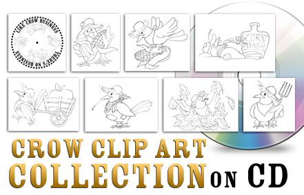 Crow Clip Art Collection
