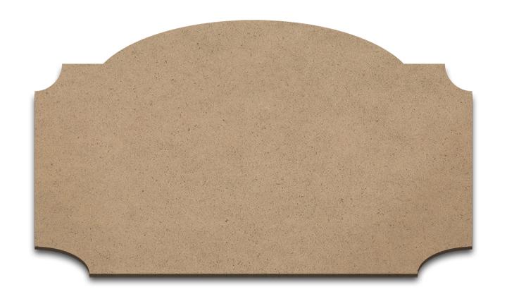 "Wood Plaque - Cascade - Medium - 11"" x 6 3/8"""