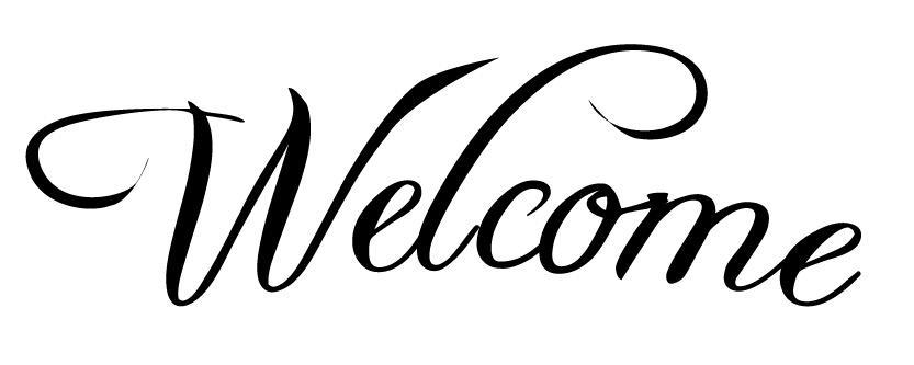 "Word Stencil - Welcome - Swished - 9 3/4"" x 3 1/4"" Word Size"