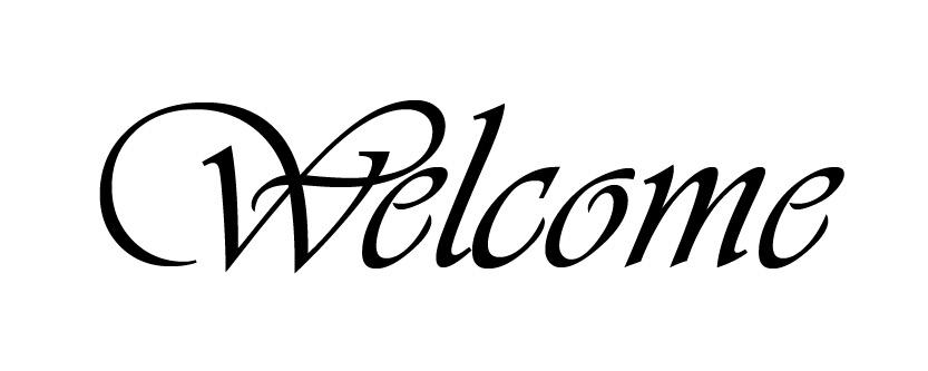 "Welcome - Word Stencil - Baroque Script - 10"" x 4"" - STCL589_2"