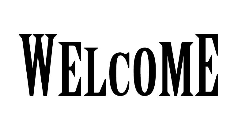 "Word Stencil - Welcome - Edition Marquee - 9"" x 2 7/8"" Word Size"
