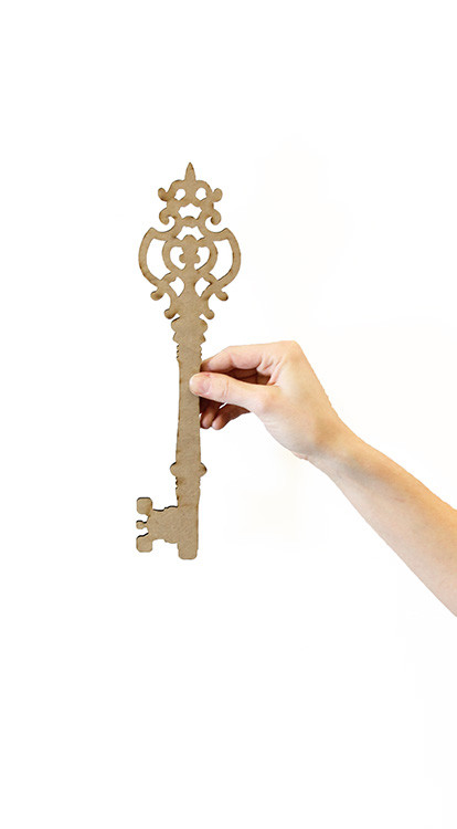 "Buckingham Key - 12"" x 3 1/8"""
