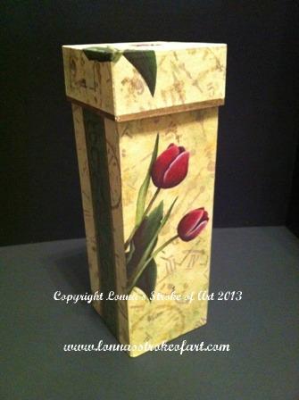 Tulips Wine Box - E-Packet - Lonna Lamb