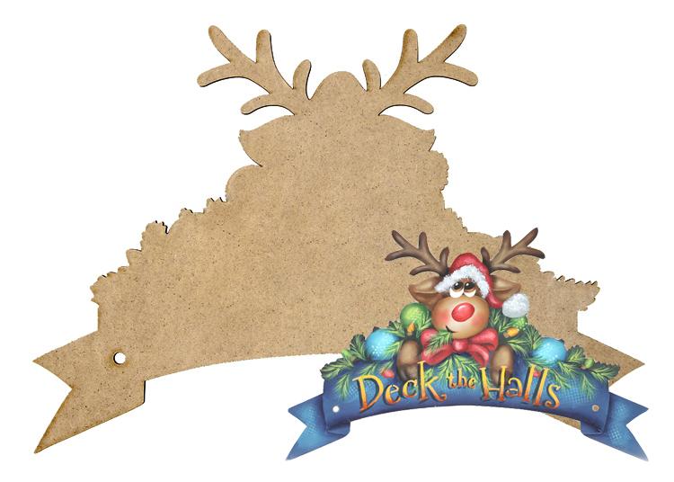 Deck the Halls Wreath Banner