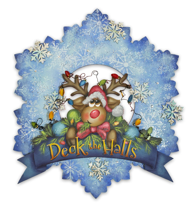 Deck the Halls Winter Wreath E-Packet - Patricia Rawlinson