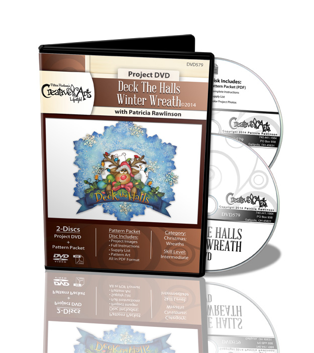 Deck the Halls Winter Wreath DVD + Pattern Packet