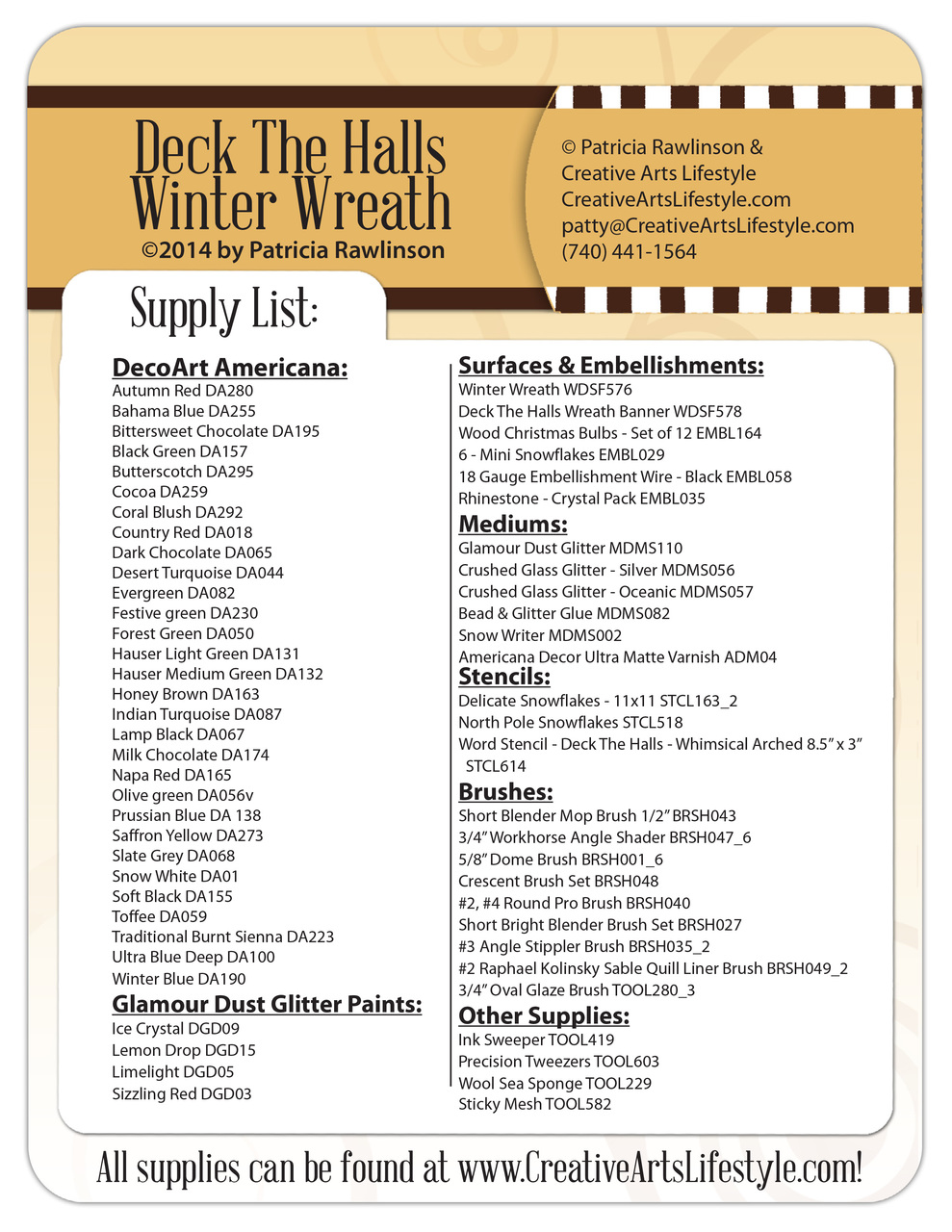 Deck the Halls Winter Wreath DVD + Pattern Packet