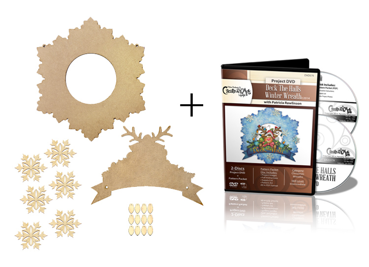 Deck the Halls Winter Wreath Surface Set + DVD Combo