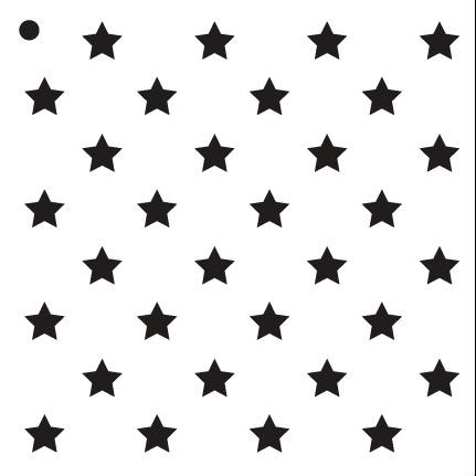 """1/2"""" Stars - Pattern Stencil - 6"""" x 6"""""""