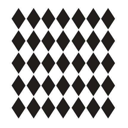 """Medium Diamonds Pattern Stencil - 6"""" x 6"""""""