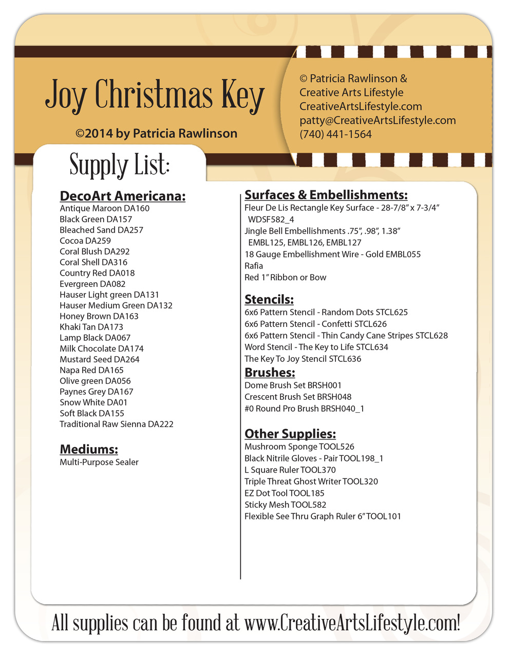Joy Christmas Key Pattern Packet - Patricia Rawlinson