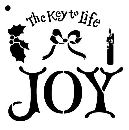 """The Key to Joy Stencil - 6"""" x 6"""""""