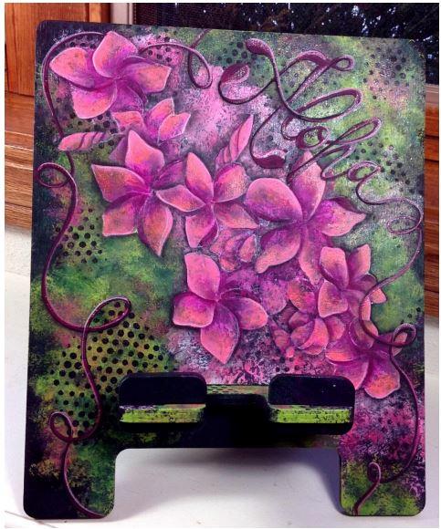 Aloha Plumeria Tablet Stand - E-Packets - Christy Hartman