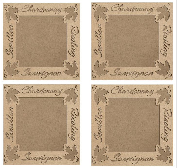 "4-Plaque European Wine 9"" x 9"" Frame Set"