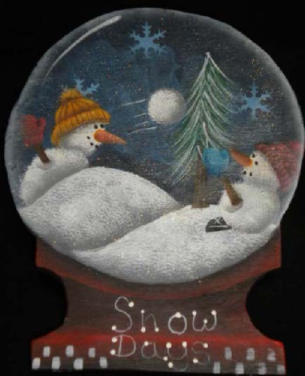 Snow Globe Ornament - E-Packet - Ann Perz