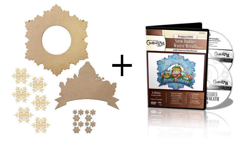 Snow Buddies Winter Wreath Surface Set + DVD Combo