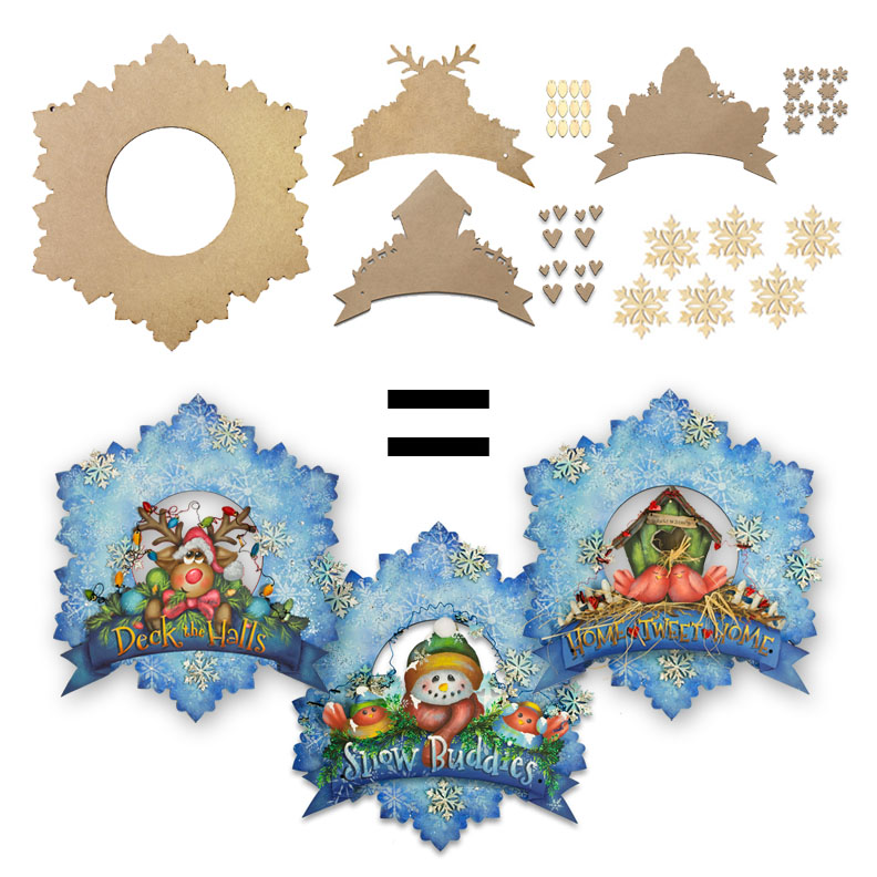 Winter Wreath Deluxe Project Surface Set