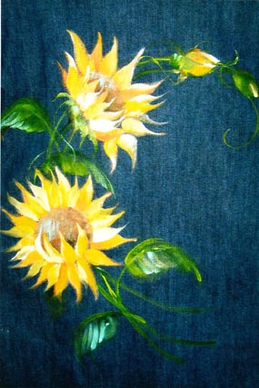 Fabric Sunflowers E-Packet - Beth Wagner