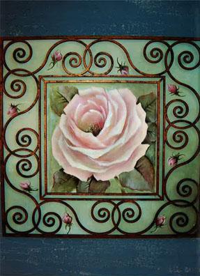 Scroll Framed Rose E-Packet - Beth Wagner