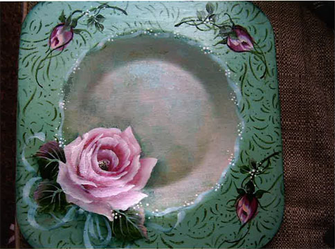 Rose Candle Plate E-Packet - Beth Wagner