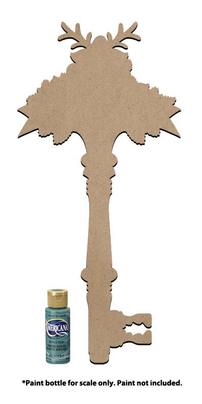 "Deck The Halls Rudolph Key Surface - 18"" x 8-5/8"""